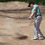 Escaping Green Side Golf Bunker