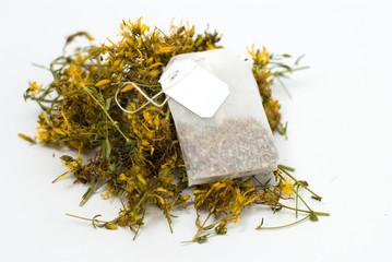 tea bag out of Hypericum