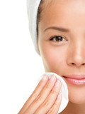skin care woman removing makeup - 34108173