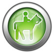 "Green glossy 3D effect button ""Horse Trail"""