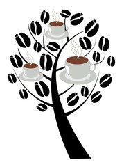 vector coffee tree