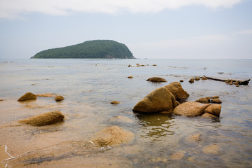 Mysterious Petrov island. Russia.