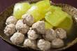 鶏肉団子と冬瓜の煮物