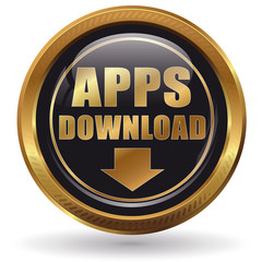 APPS Download - Button gold