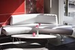Sofa and table in a restaurant