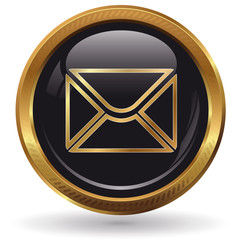 Mail - Button gold
