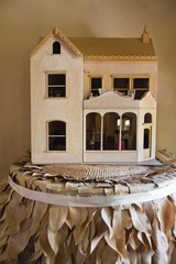 Close-up of model home