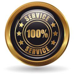 Service 100% - Button gold