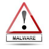 Señal peligro MALWARE poster