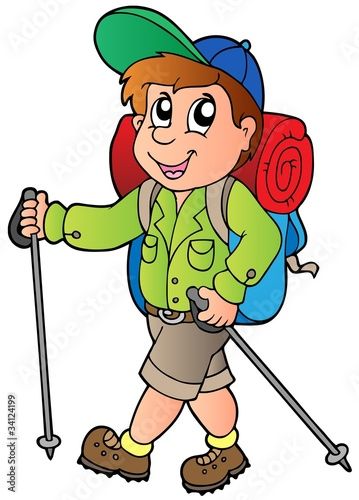 Cartoon hiker boy