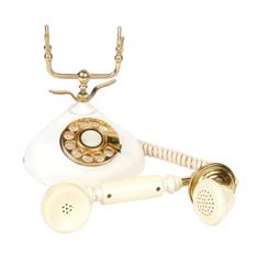 Old fashioned phone isolated on white background