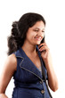 Beautiful Indian women on phone