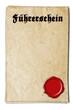 Urkunde Führerschein Wachssiegel