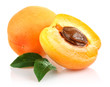 apricot fruits with green