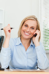 Portrait of a businesswoman smiling into camera
