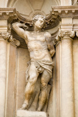 Nude male statue, Venice