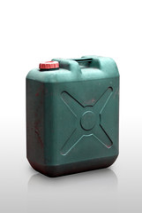 Green Fuel tank, Isolated