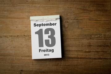 Freitag der 13 September 2013