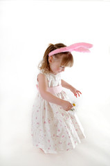 Little Girl in Easter Dress
