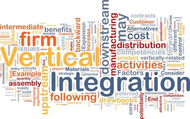 Vertical integration background concept
