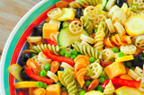 Pasta salad - close overhead view