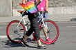 Gaypride and bicycle