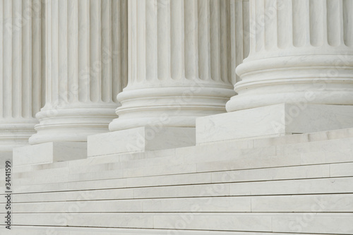 The row of classical columns with steps - 34141599