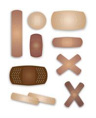 Flesh colored band-aids