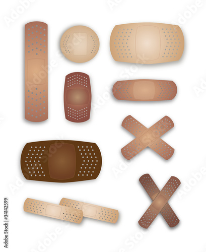 Flesh colored band-aids