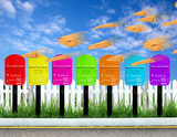 7 color postbox poster