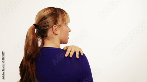 Woman with pain in the back