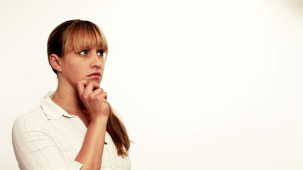 Worried woman thinking
