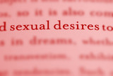 close up of phrase Sexual Desires in text poster