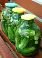 Homemade cucumbers