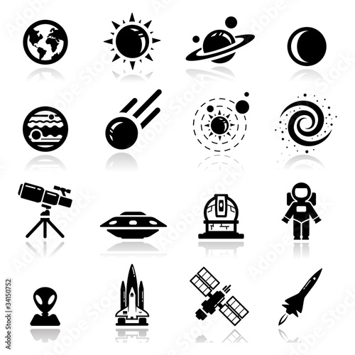 Icons set space