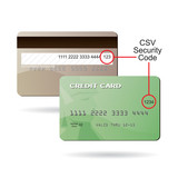 Credit Card CSV Security Code Clipart