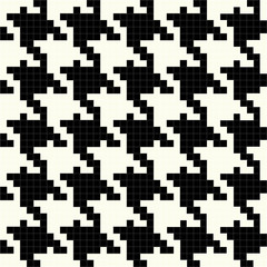 Black and White Vector Houndstooth Texture