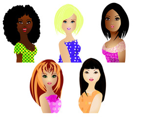 women of different ethnicities