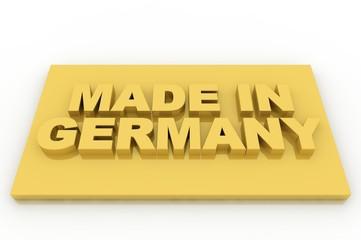 Plakette Qualitätsprodukte Gold