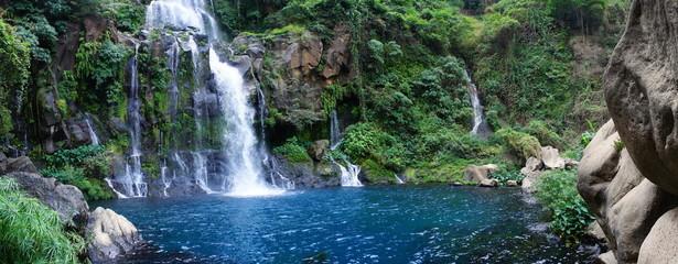 Panoramique bassin des Aigrettes, La Réunion.