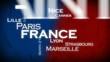 Villes de France drapeau nuage de tag animation