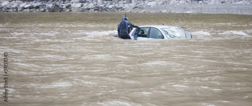 Damaged Car flooded in the Ocean - 34158345