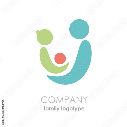 Logo adoptions and solidarity. The family  # Vector