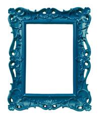 cadre style ancien baroque bleu