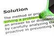 'Solving a problem', under 'Solution'