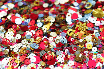close up sequins