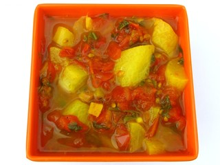 low-fat digestive radish tomato preparation