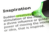 'Creativity' highlighted, under 'Inspiration'