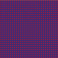 Rote Quadrate vor purpur Hintergrund