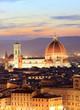 Santa Maria del Fiore Dome at night, Florence, Italy